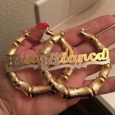 Custom Gold plated Bamboo Earrings & Custom Gold plated Bamboo Earrings · PrettyGirrl Accessories ...