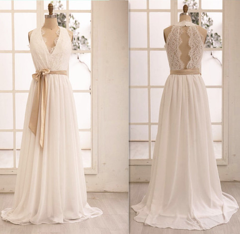 Simple long wedding dresses lace wedding dresses cheap for Wedding dress discount warehouse