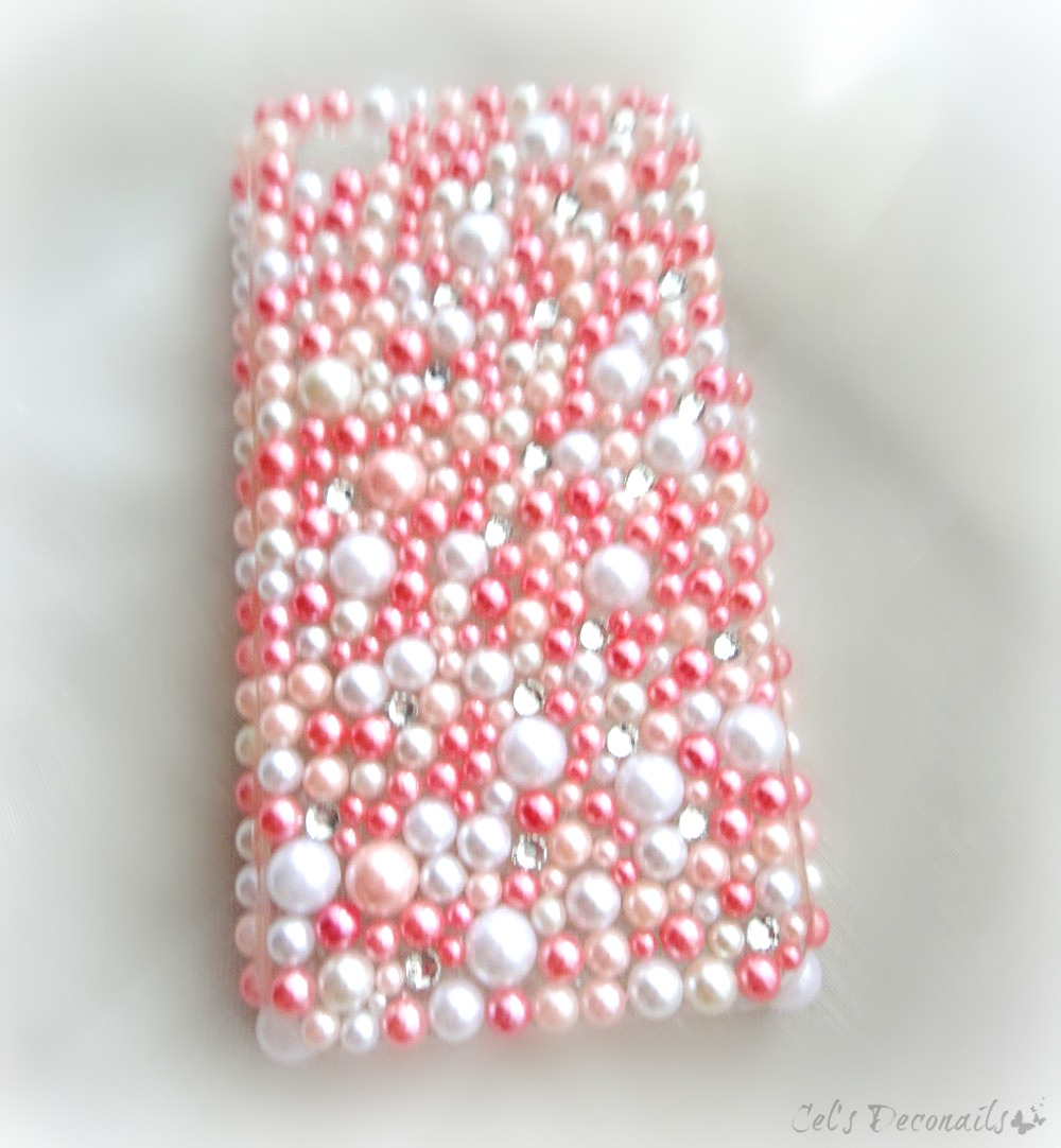 pink princess decoden phone case kawaii bling
