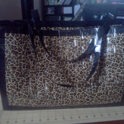 Duck tape cheetah bag