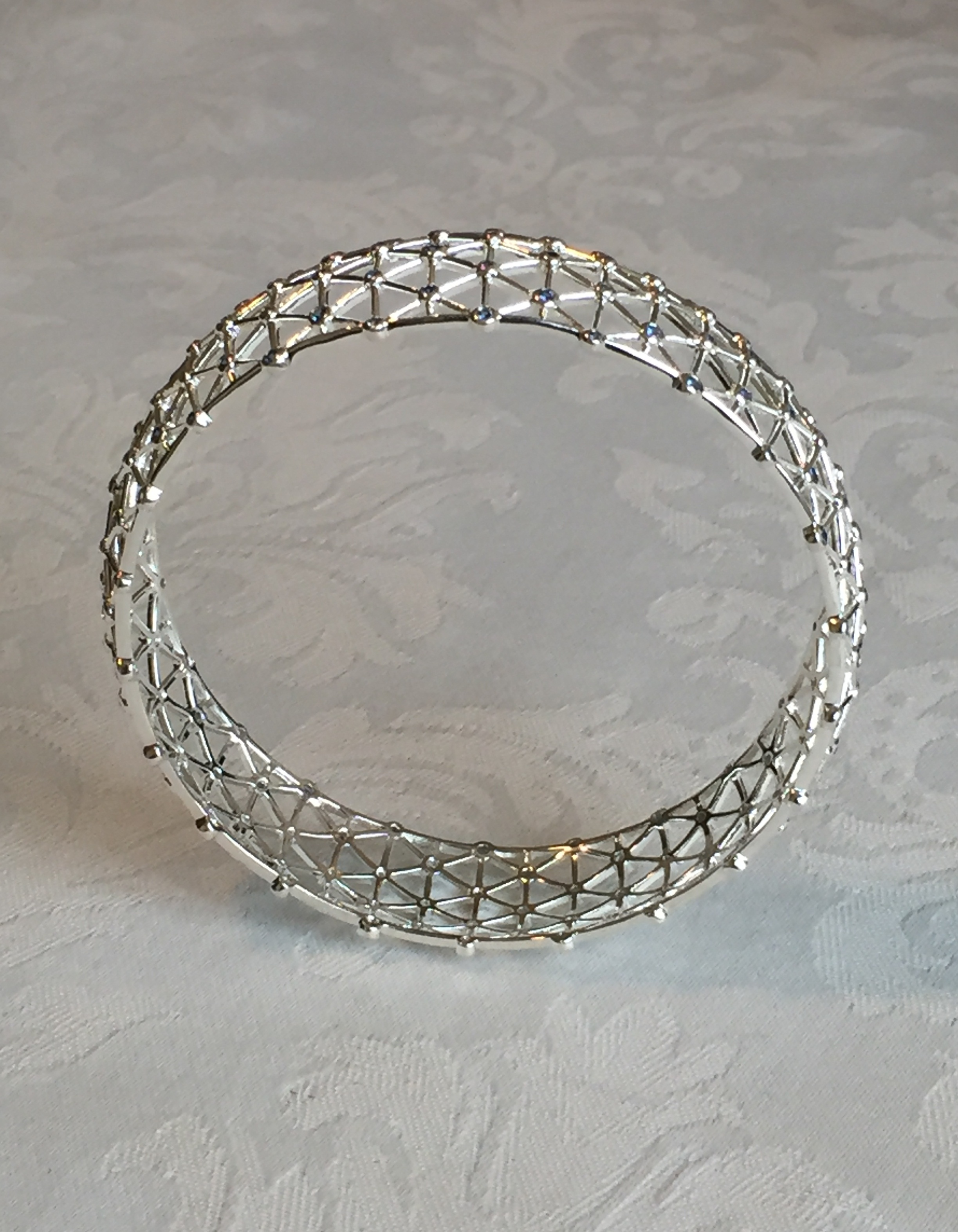 diamond bangle bracelet image bangles white sapphire gold