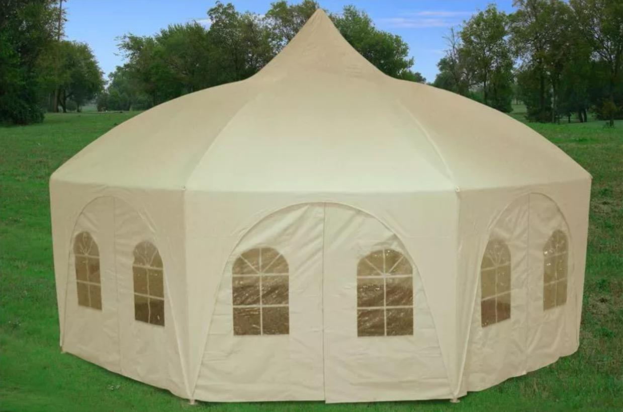 20x20 octagon shape party wedding tent (cream) · Today\'s Tec ...