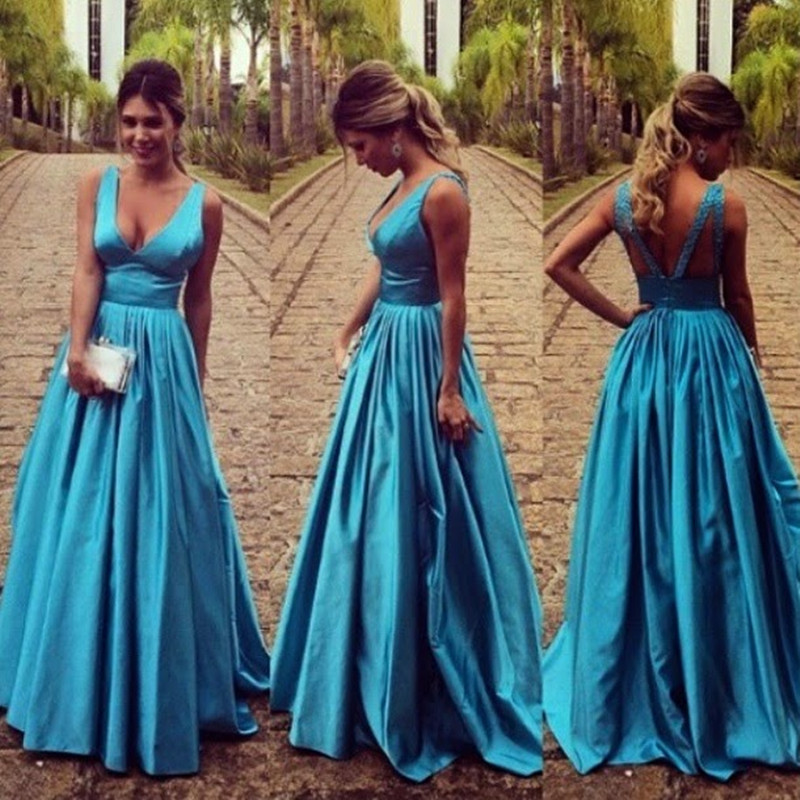 Formal Dress | Perfect Blue Stain Long Prom Dresses, Evening Dresses ...
