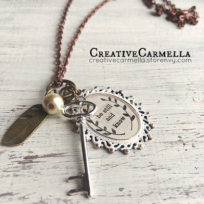 Be still and know (necklace)