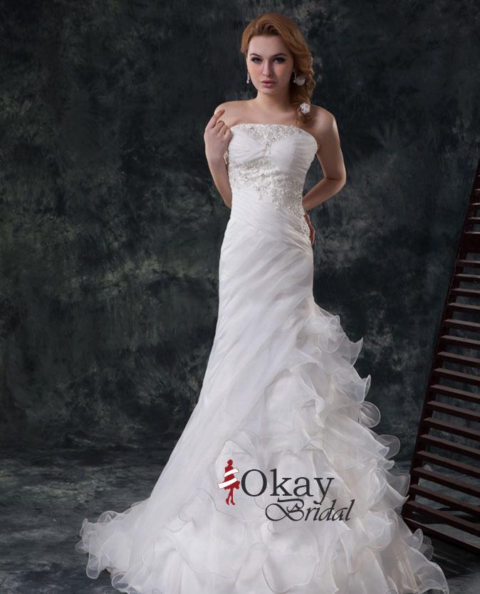 Mermaid Wedding Dress,Cheap Wedding Dress,Ruffles Wedding Dress ...