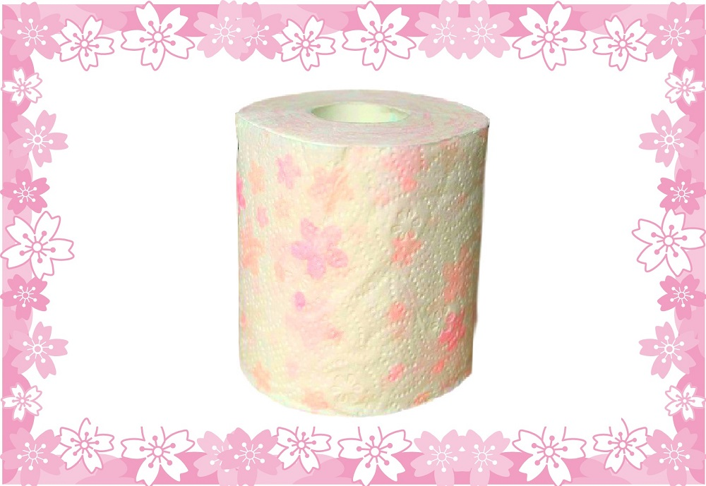 sakura floral print scented toilet paper cherry blossom