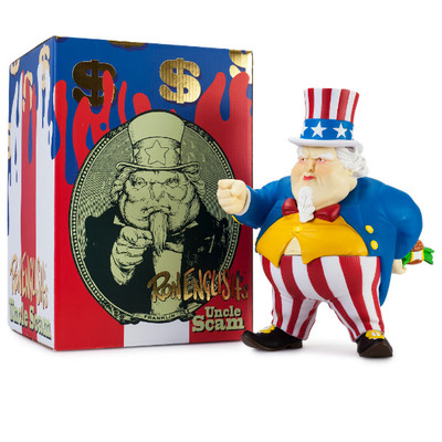 Uncle scam figure by ron english x kidrobot