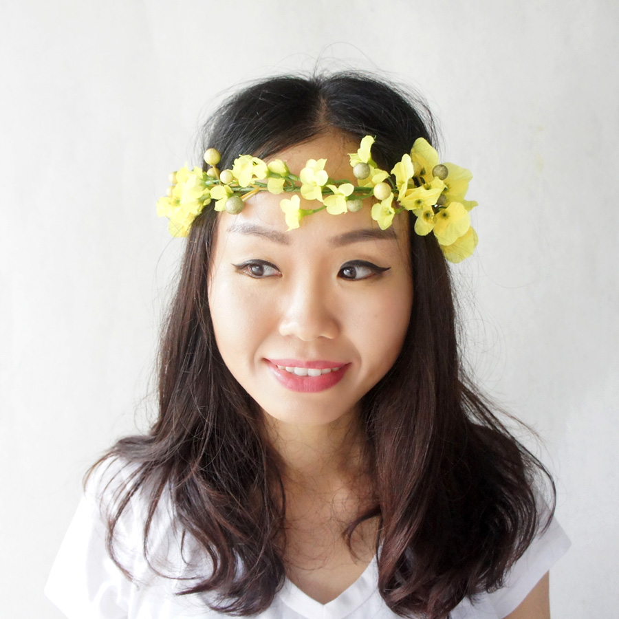 Yellow Flower Crown Native American Style Crown Gypsy Flower Crown
