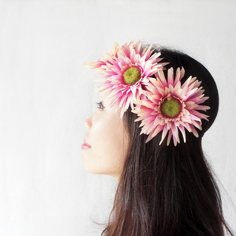 Pink Daisy Flower Headband Chic Style Headband Adult Hairband