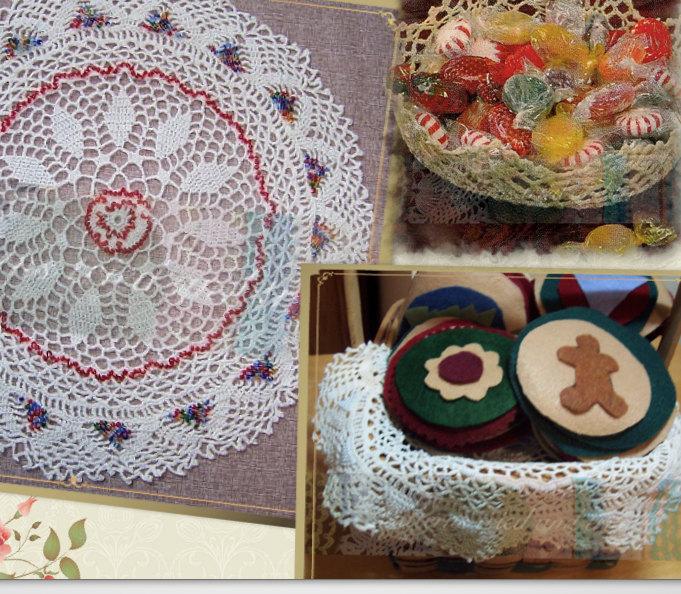 Crochet Round Doily Pattern With Beads Diy Elegant Victorian Charm