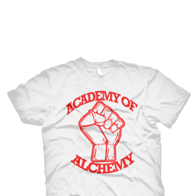 Academy of alchemy white tee