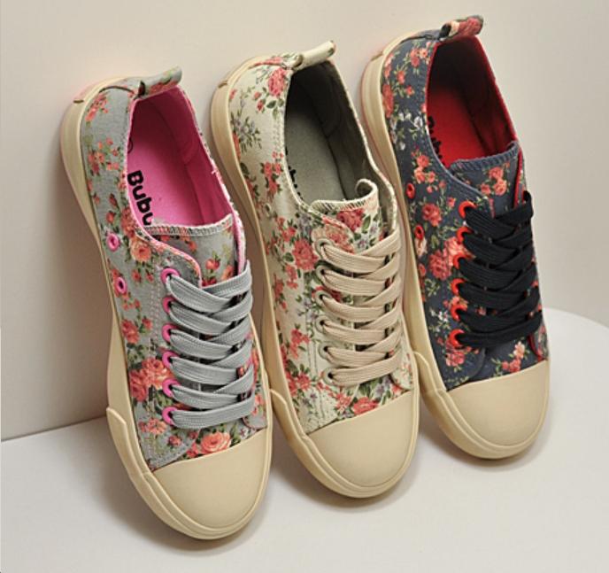 Women S Floral Canvas Shoes