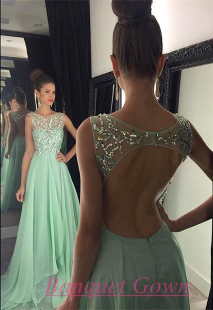 Backless Mint Dress