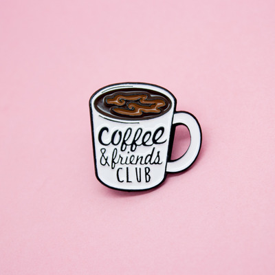 Coffee club enamel pin