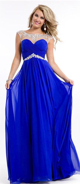 Two Styles!Custom Made A-line Scoop Zipper Back Beading Prom dress ...