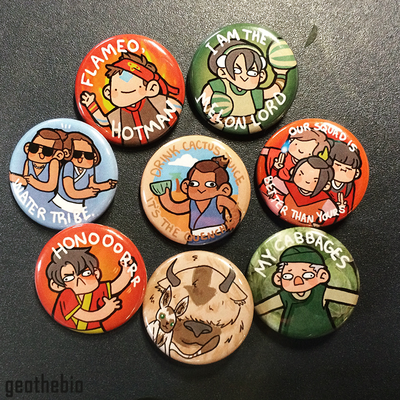 Avatar: the last airbender pin set (8)