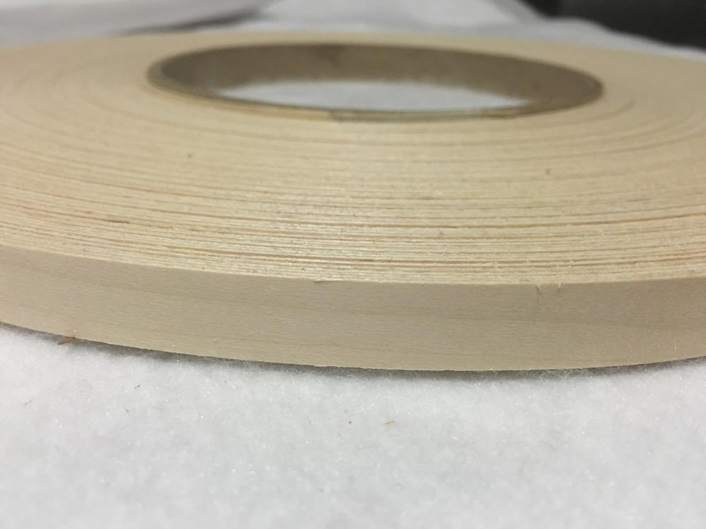 """Poplar Pre Glued 1/""""x50/' Wood Veneer Edge Banding"""