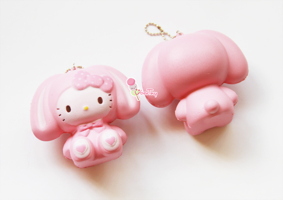 Squishy Squooshems Bunny : Jumbo Hello Kitty in a Bunny Costume Squishy ? Uber Tiny ? Online Store Powered by Storenvy