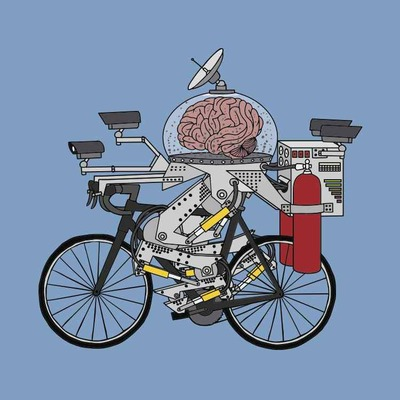 Bike brain (pro cyclist of the year 3000), 5x5 print