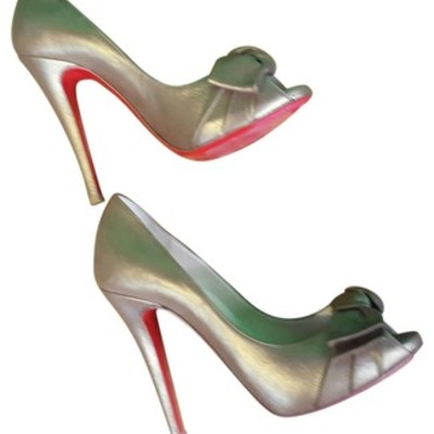 Christian louboutin formal bronze pumps