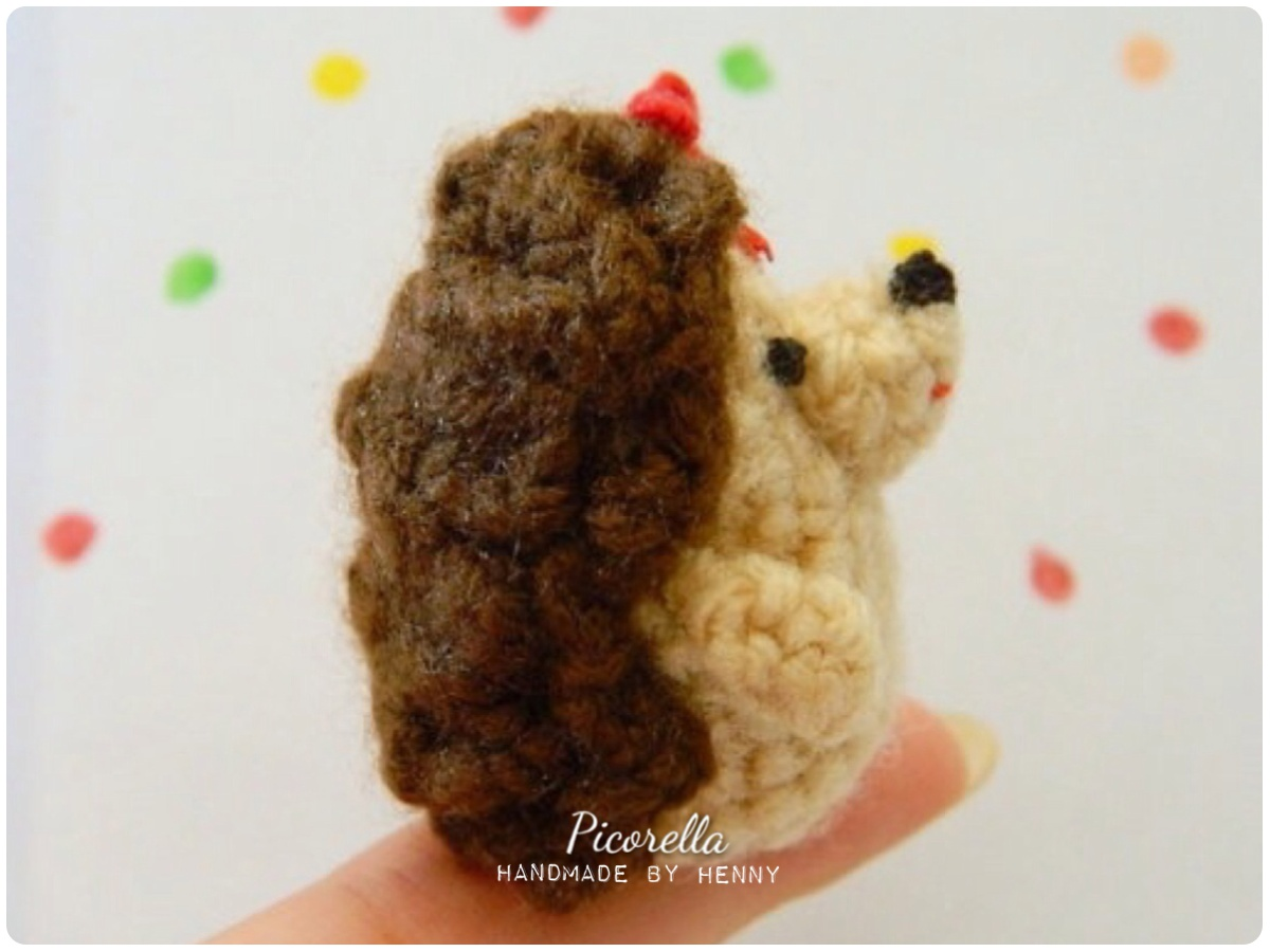 Amigurumi Hedgehog : Mini Hedgehog Amigurumi, Amigurumi Hedgehog, Miniature ...