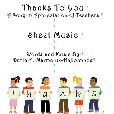 Thanks to you sheet music