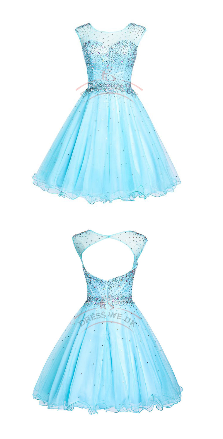 Gorgeous Short Party Dresses,Round Party Dresses,Tulle Party Dresses ...