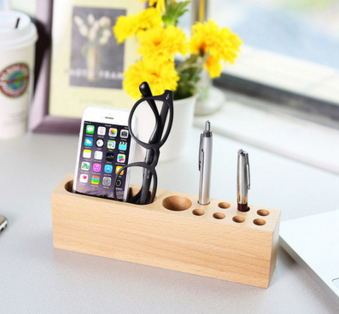 IPhone Pen Holder Docking Station Best Gifts For Men Wooden Stand Desk