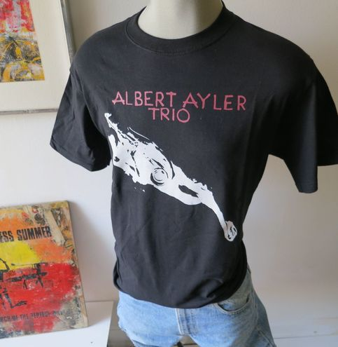 Albert ayler trio t shirt screen print short sleeve black for Vintage screen print t shirts
