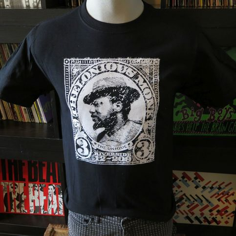 Thelonious monk t shirt screen print black short sleeve for Vintage screen print t shirts