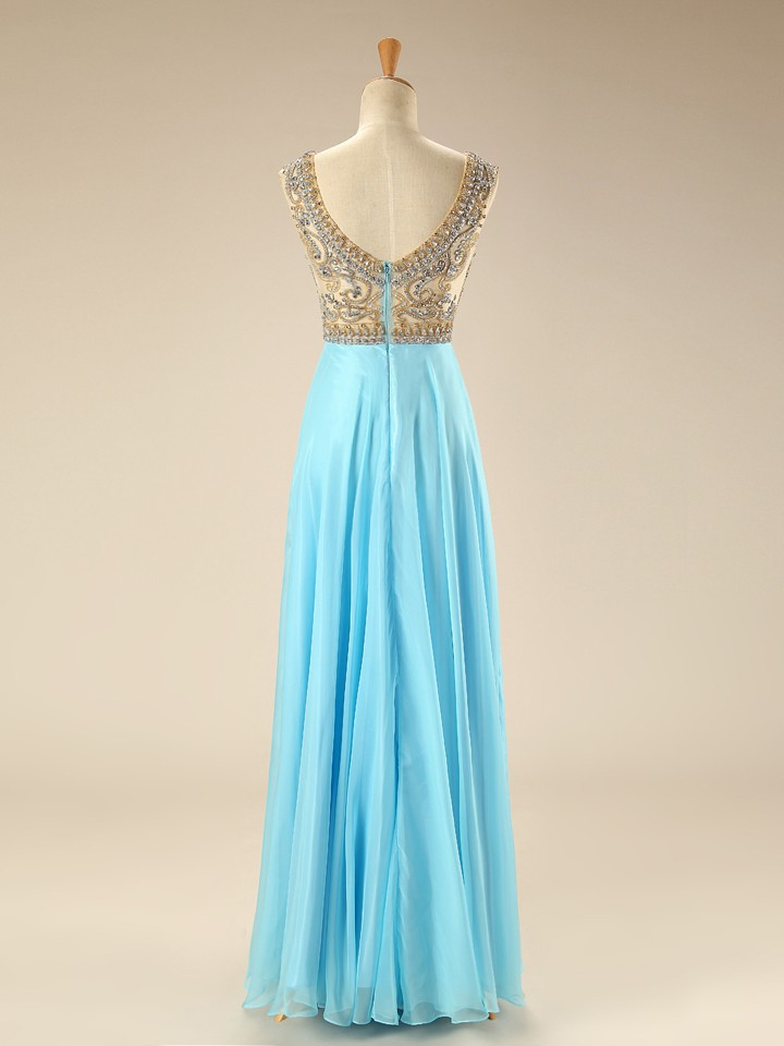Gorgeous Chiffon Prom Dresses,Long Evening Dresses,Beading Prom ...