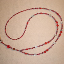 Beaded Lanyard Red/Pale Purple (Spec. Order)