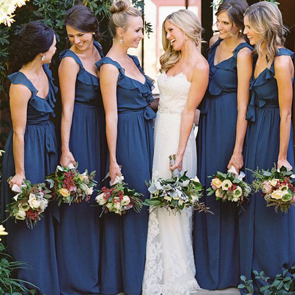 Blue Bridesmaid Dresses Wholesale