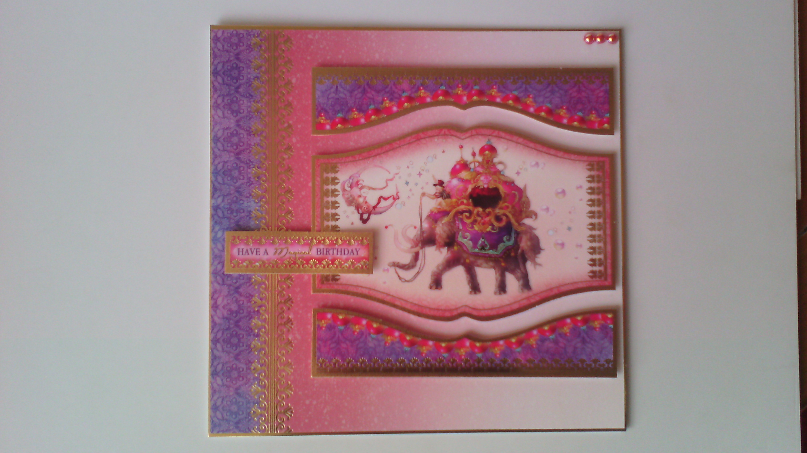 Mystical Happy Birthday Luxury 8x8 Handmade Greeting Card The Card