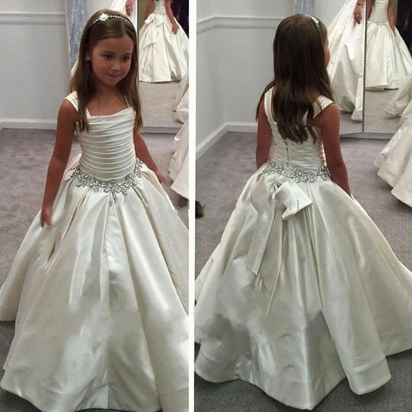 LF13 Beaded Birthday Party Dress,Girls Pageant Gown,Handmade Flower ...