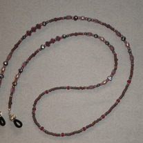 Beaded Eyeglass Chain Purple/Pink/Green (Spec. Order)