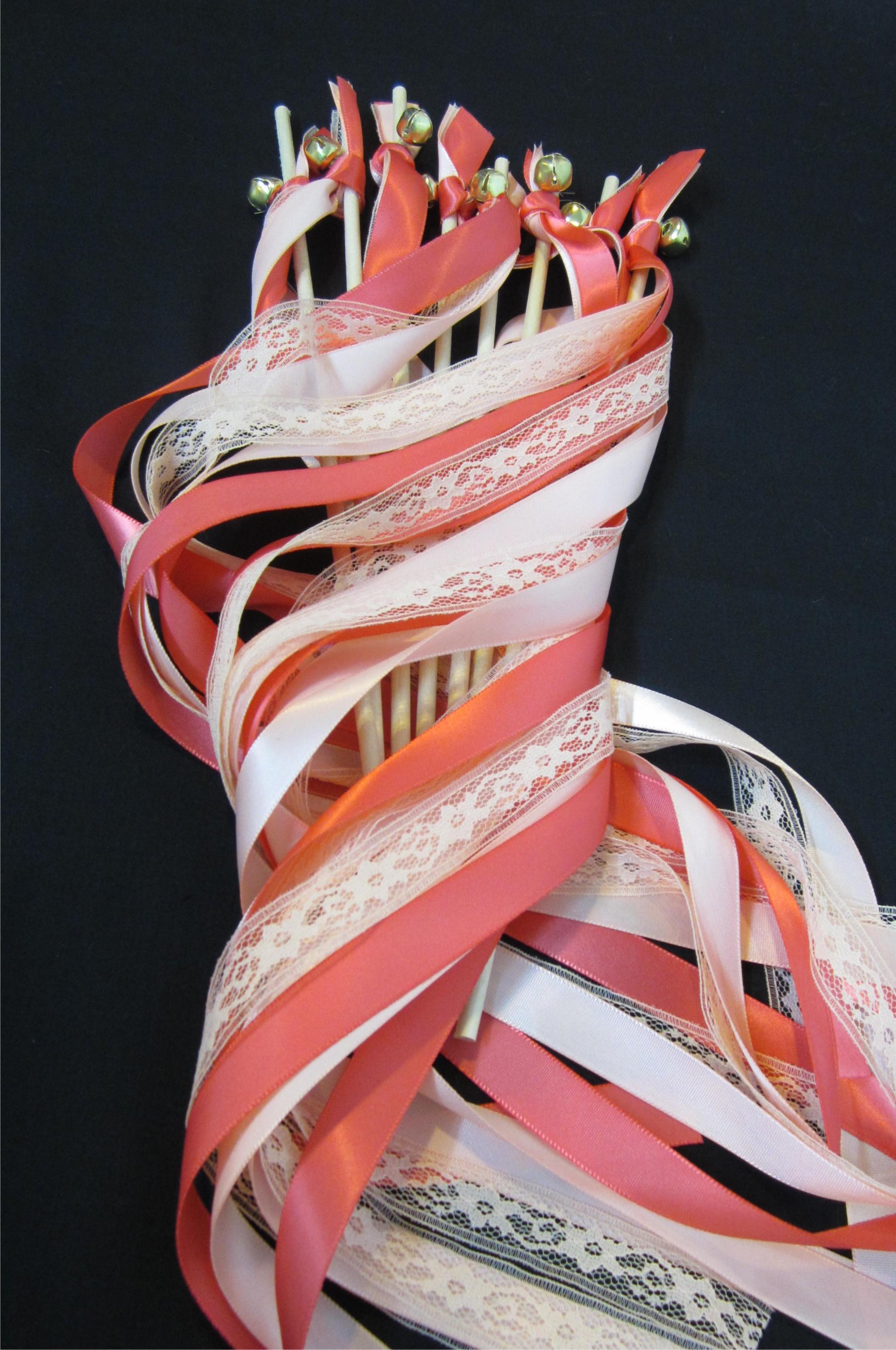 lace ribbon wand streamer wedding wedding wands