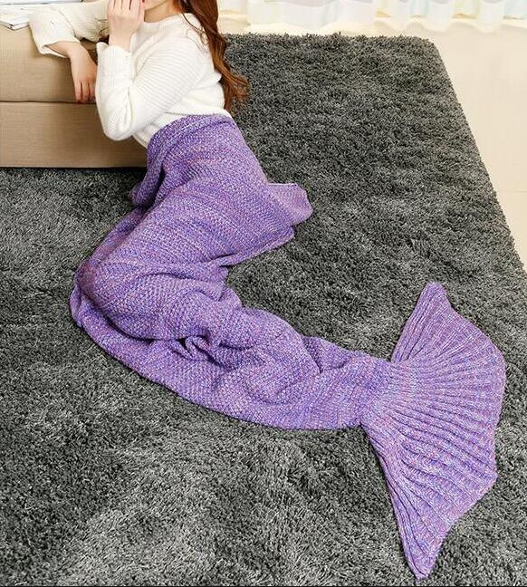 Knitting Pattern Fishtail Blanket : Mermaid Wool Knitted Blanket Fish tail Cover on Storenvy