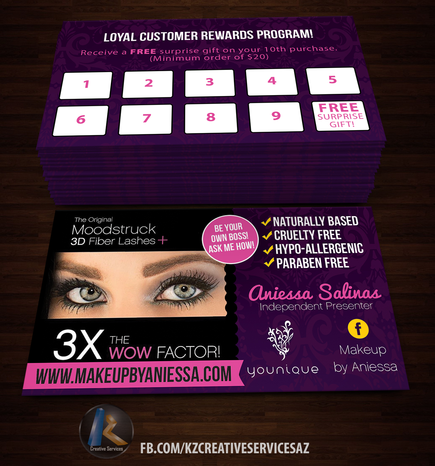 Younique Business Cards 1 · KZ Creative Services · line Store