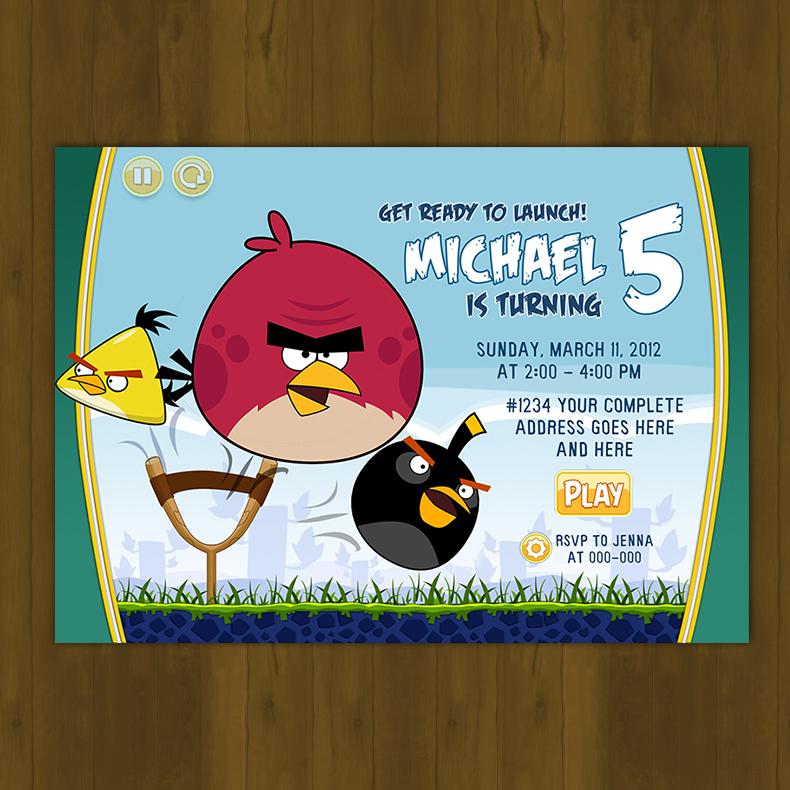 Angry Birds Birthday Invitation Card DIY · Splashbox Printables ...