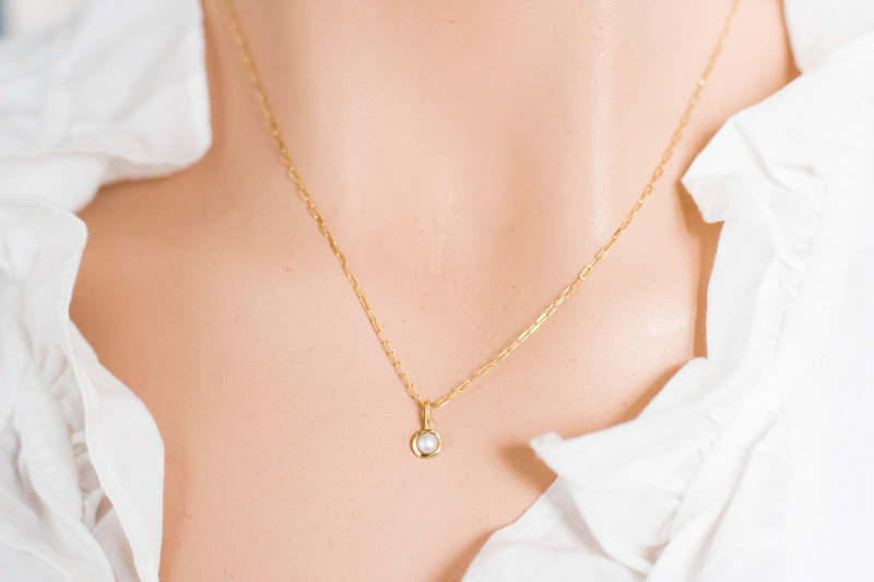 Pearl pendant in 14k gold dot pearl necklace solid 14k gold pearl pendant in 14k gold dot pearl necklace solid 14k gold pearl neklace mozeypictures Image collections