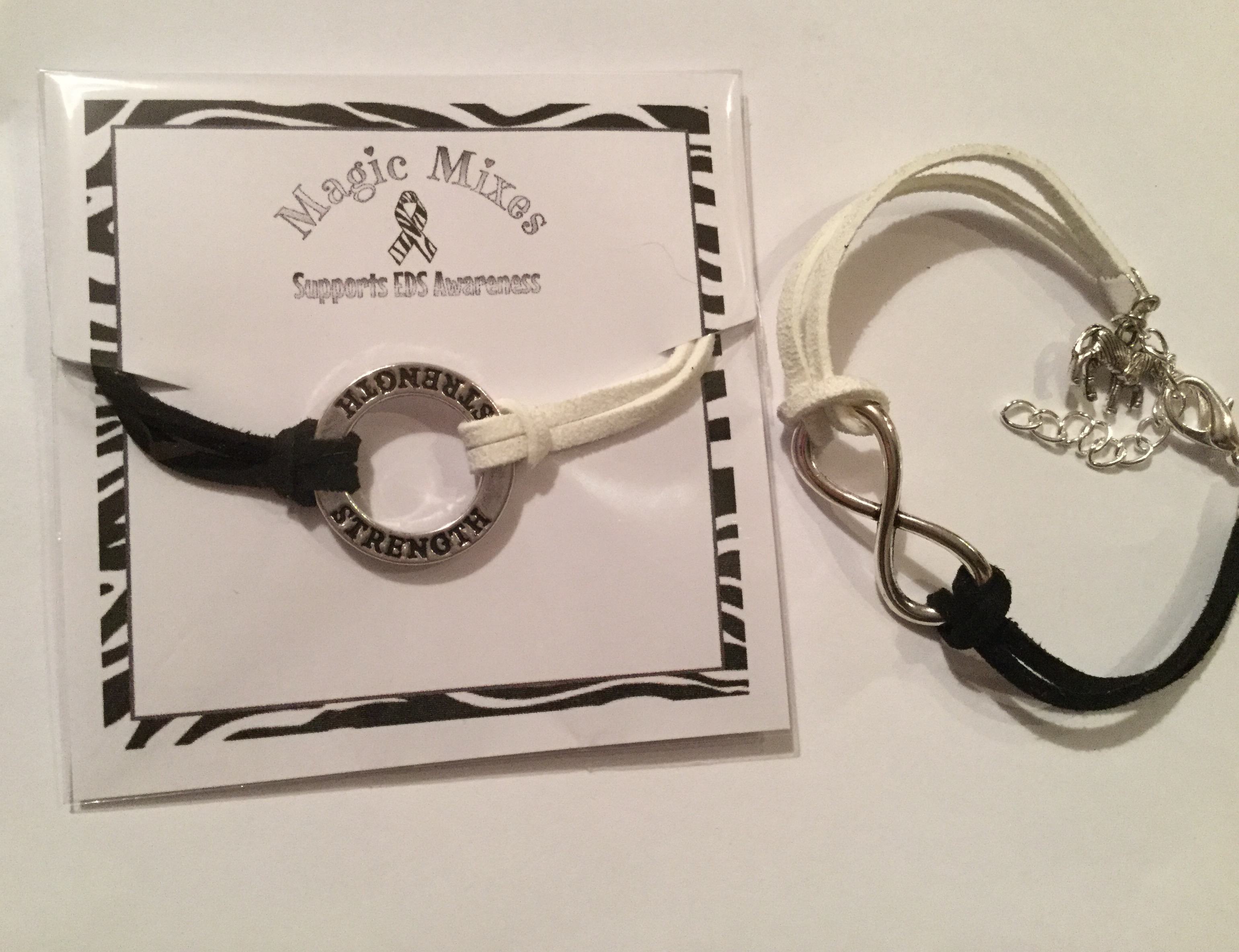 anklet butler ltd products danlos ehlers or silver zebra grace with plated rose bracelets eds and gold awareness charm syndrome bracelet
