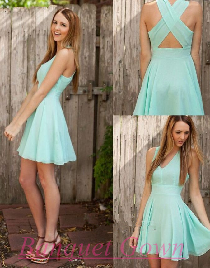 Mint Green Party Dresses,Cute Prom Gown,Lovely Homecoming Dresses ...