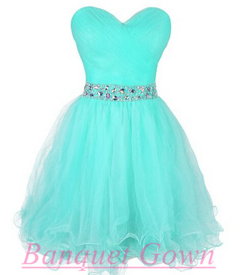 Light Blue Party Dresses,Cute Prom Gown,Lovely Homecoming Dresses ...