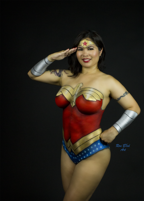 Wonder Woman Body Painting On Storenvy