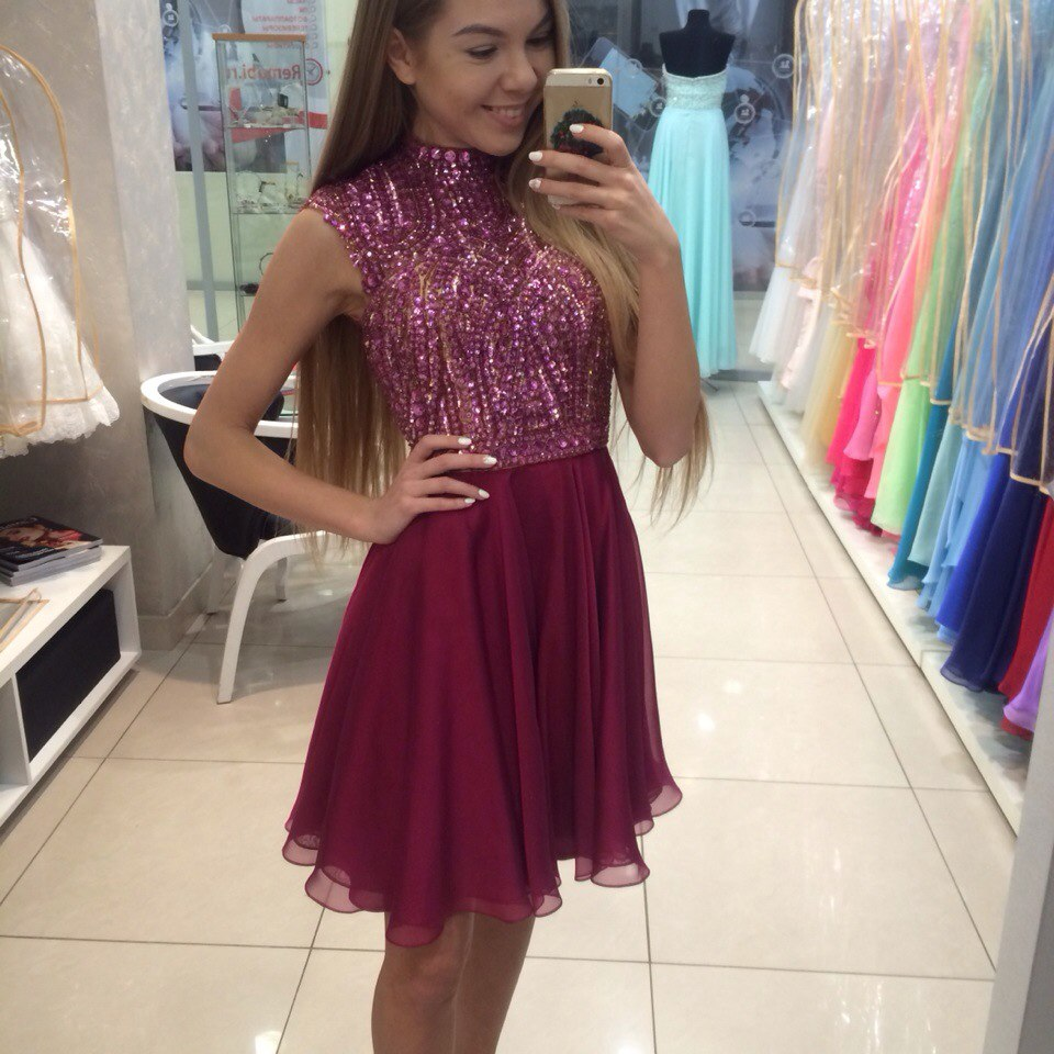 Pretty Beading Short Prom Dresses,Homecoming Dress, Homecoming ...
