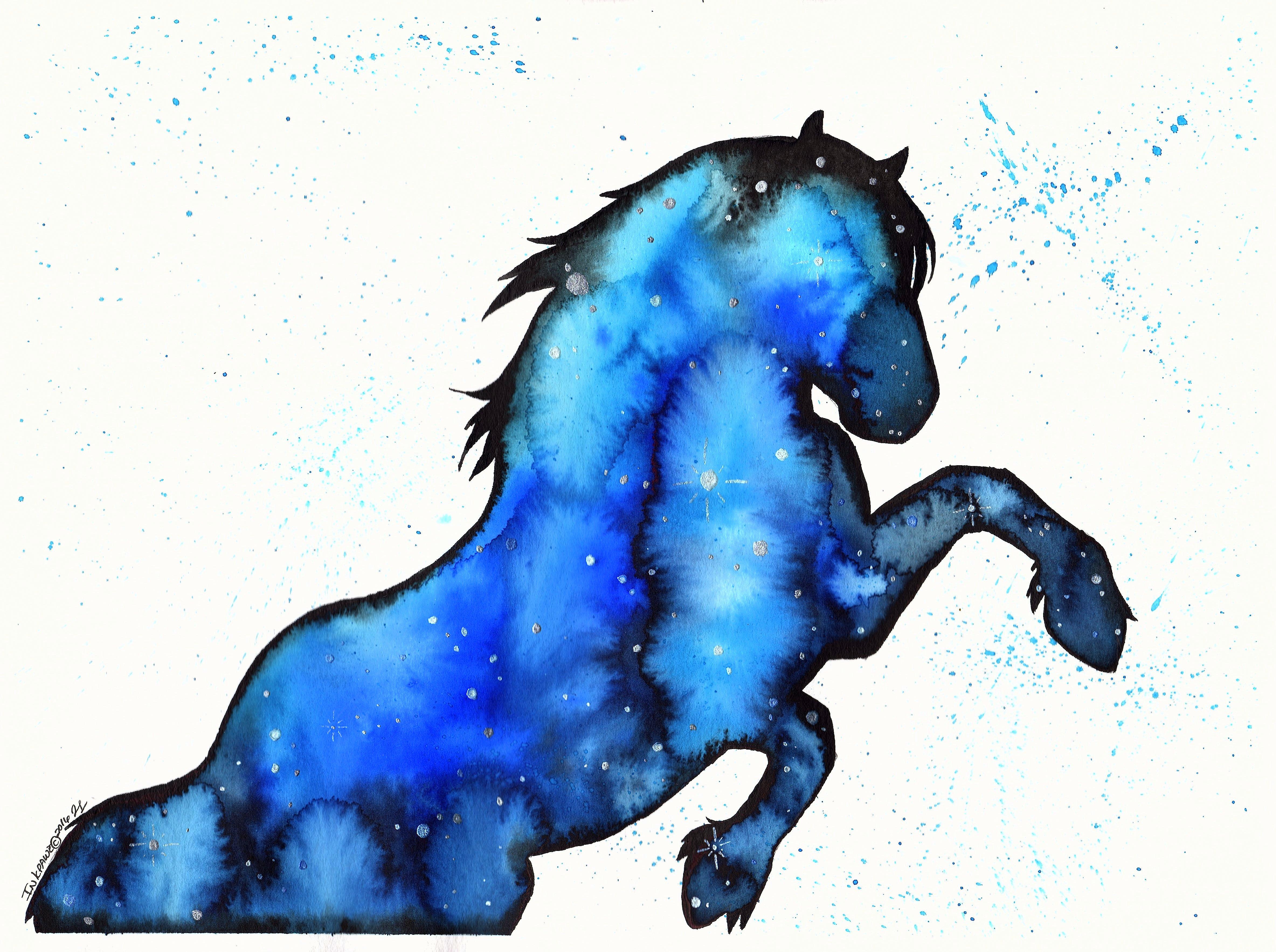 Galaxy Horse Inkpawz Art Online Store Powered By Storenvy
