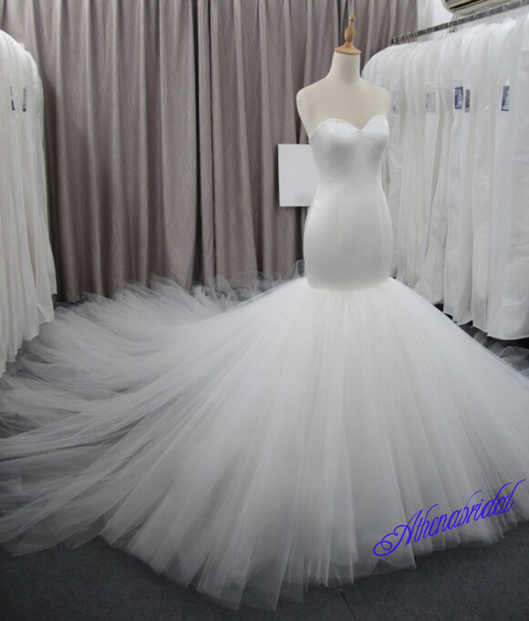 White wedding dresses, cheap wedding dresses, mermaid wedding dress ...