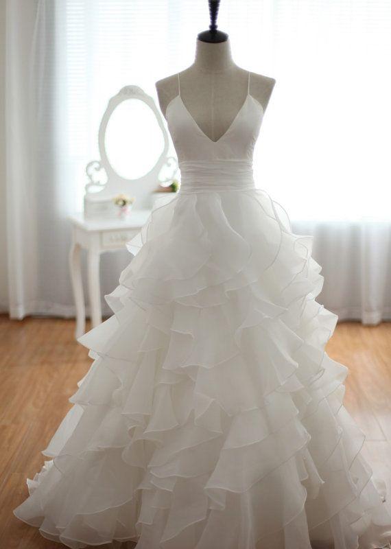 Ulass Beach Wedding Dress,A Line Wedding Dress,Cheap Wedding Dress,Spaghetti