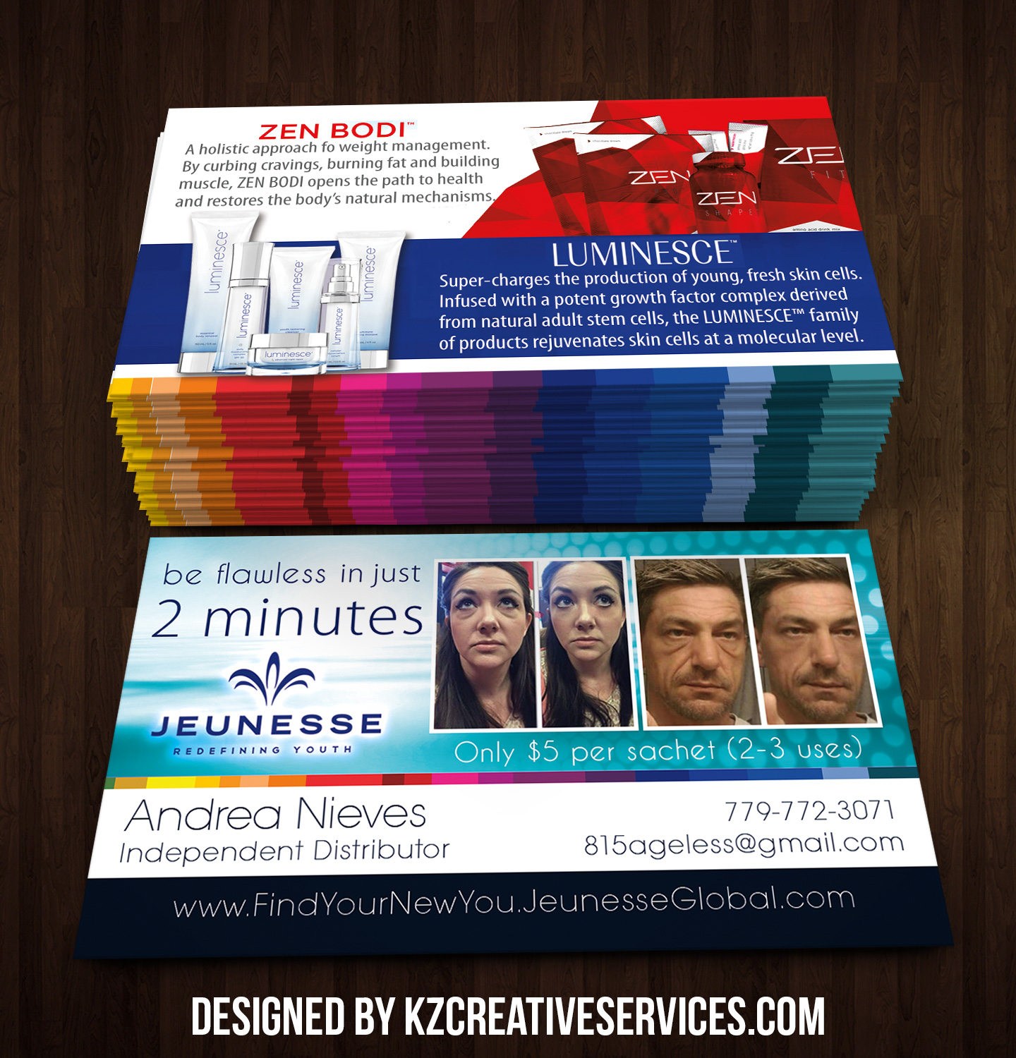 Jeunesse Business Cards style 3 · KZ Creative Services · Online ...